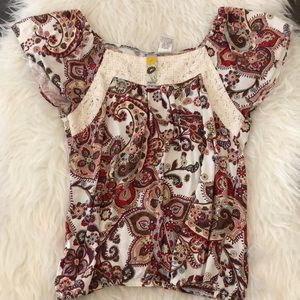 Mimi Chica Paisley Top Size Small